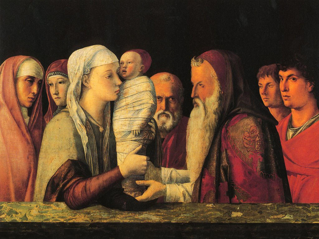 Giovanni Bellini - Presentation at the Temple